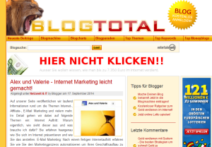 Blogverzeichnise blogtotal.de