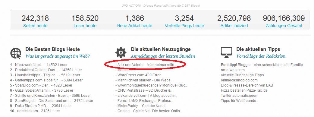 Blogverzeichnisse blogtraffic.de