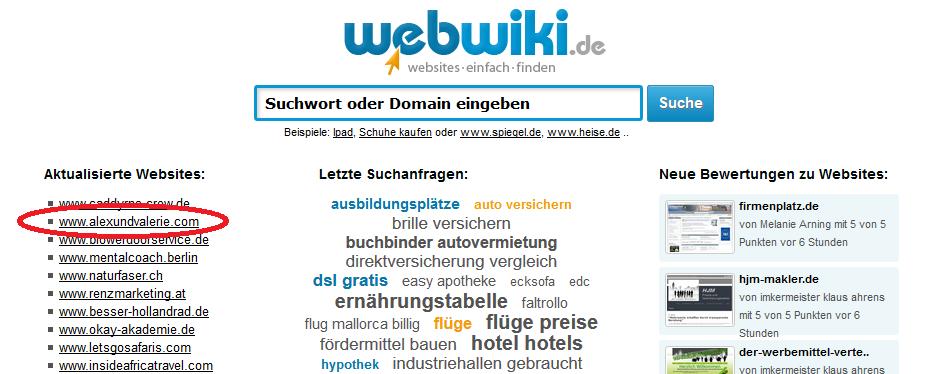 Blogverzeichnisse webwiki.de