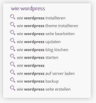 wordpress wie